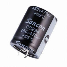 Aluminum Electrolytic Capacitor with 6.3 to 450V Voltage, RoHS, Used in Power Supplies