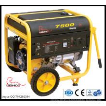 Generador industrial de la gasolina del poder portátil del alambre de cobre de la venta el 100% 6kw 6.5kw