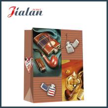 Papel de marfim mate laminado Delicate Isqueiro Shopping Gift Paper Bag