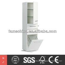 2013 Hot Sell High Glossy White MDF Bathroom Storage Cabinet
