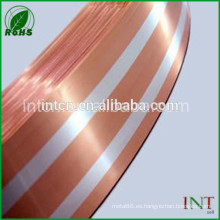 tira de bimetal cobre plata embutido