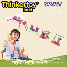 Kind-Leben-Spiel-Satz-beste pädagogische Spielwaren DIY Plastikblöcke