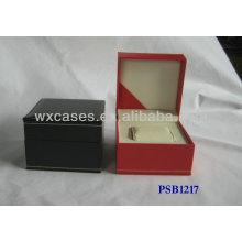 Caja de reloj de cuero PU para el único reloj con opciones de color diferentes