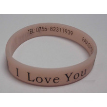 Single Color Printing Wholesale Silicone Rubber Bracelets