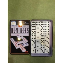 Marfim Dominoes Em Tin Box