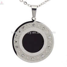 Dubai silver round stainless steel necklace fashion pendant wholesale