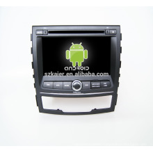 Quad core!car dvd with mirror link/DVR/TPMS/OBD2 for 7inch touch screen quad core 4.4 Android system Ssangyong Korando