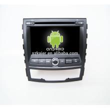 Четырехъядерный!автомобильный DVD с зеркальная связь/видеорегистратор/ТМЗ/obd2 для 7inch сенсорный экран четырехъядерный процессор андроид 4.4 системы Санг Йонг Корандо