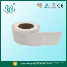 rolo de etiqueta de papel de arte semi-brilhante adesivo, etiqueta adesiva