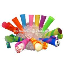 Top Sell Eco-freundliche wiederverwendbare Silikon gefrorene Aroma Popsicle Form / Silikon Eis Popsicle Form
