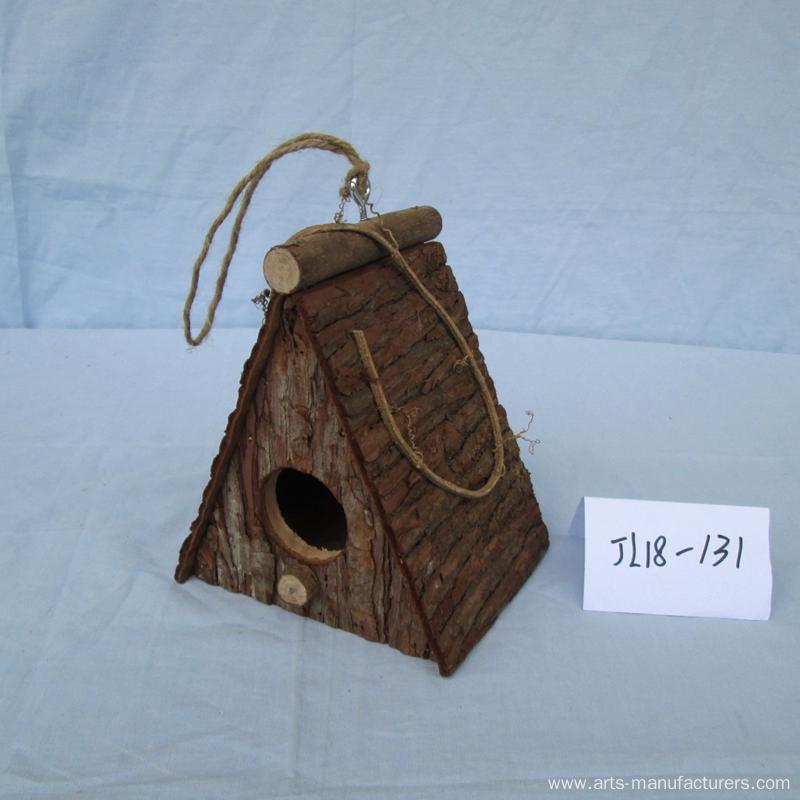 Handmade Wood Bark Bird House