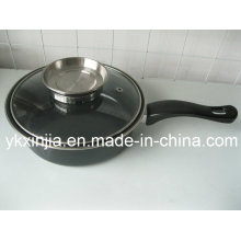 Kitchenware Carbon Steel with Lid for Pouring Oil Cookware
