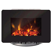 electric fireplace flat round with base