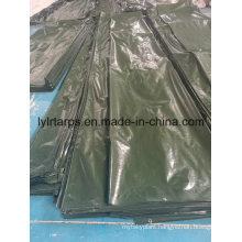 Finished Dark Green Plastic Tarpaulin Cover