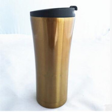 Made in China 16oz 304 Edelstahl Doppelwand Embossing Tumbler mit Lip PP