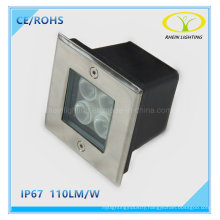 24V 4W Outdoor Square LED Inground Light for Plaza