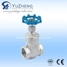 Aço inoxidável Thread válvula de portão (Z11W)