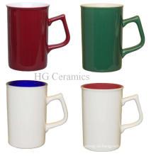 Aufflackern-Form-Becher, keramischer Becher, Kaffeetasse