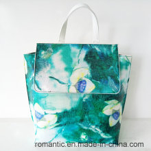 China Supplier Fashion Designer Lady PU Mochila de impressão (NMDK-042703)