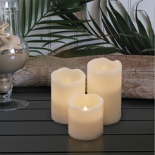 Lifetime guaranteed flickering plastic LED candle