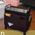 Coffee Side Wagon  Storage Rack, Oxford Fabric bags