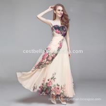 Vestido de boda de la manera Vestido de la longitud del piso del albaricoque con el cordón