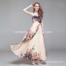Fashion wedding dress Apricot floor length dress with lace