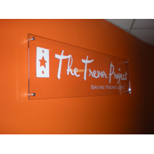 Letrero publicitario de acrílico para pared de recibo (ID-10)