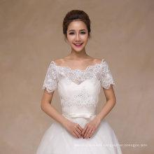 off Shoulder Sequin Ivory Short Sleeve Wedding Jacket Shawl