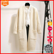 New long sleeves white cashmere cardigan long cashmere sweater