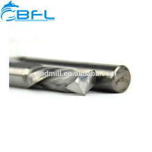 BFL CNC End Mill Manufacture, Carbide 2 Flute Left Spiral Downcut End Mill For Aluminum