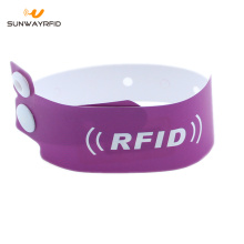13.56mhz F08 chip Paper Disposable RFID bracelet