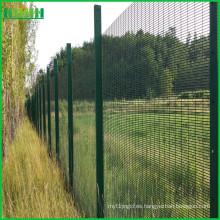 PVC cubierto anti escalada 358 alta seguridad jardín valla