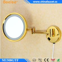 Wall Golden Flexible Single Side Makeup LED Mirror