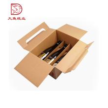 Caja de empaquetado del vino de papel al por mayor decorativa del logotipo de encargo del OEM
