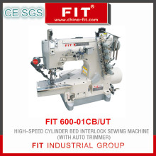 High-Speed Cylinder Bed Interlock Sewing Machine with Atuo Trimer (600-01CB/UT)