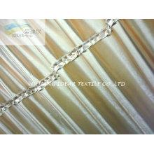 75 * 300 D glänzend geprägtes Polyester Vorhangstoff