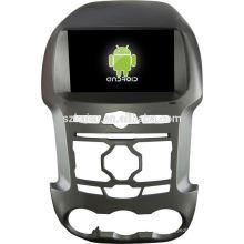 Muito em estoque! Android 4.2 tela sensível ao toque do carro dvd gps para Ford Ranger + dual core + OEM + Glanoss + 1024 * 600 tela sensível ao toque