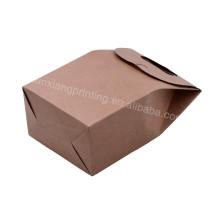 Поставкы фабрики привлекательной цене пищевой коричневый бумажный мешок 10*16*6см