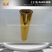 24micron Golden Metalized PET Thermischer Laminierfolie