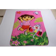 100% Polyester Super Soft Coral Fleece Blanket with Dora / Baby Blanket
