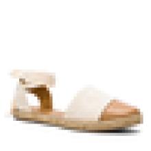 Comfort jute sole shoe flats lace up sandal women 2016 summer shoe