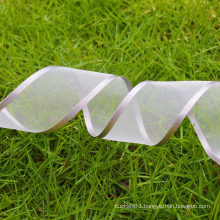 Eco-friendly silver ribbon, organza ribbon in stock