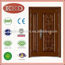 Copper Imitating Security Steel Door KKD-577B with Double Leaf