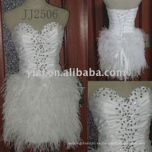 La nueva llegada JJ2506 rebordeó los vestidos de boda del cordón del A-line 2011