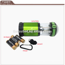 Factory Sale 500 Lumen Aluminium LED 4X 1.5V AA Camping Light