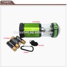 Fábrica Venda 500 Lumen alumínio LED 4X 1.5V AA Camping Light