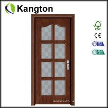 Flower Pattern PVC Glass Door (PVC glass door)