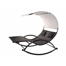 doble chaise rocker con marco de acero