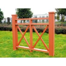 1200 * 1120 2014 Eco-Friendly Günstige Outdoor Holz Kunststoff Composite WPC Zaun